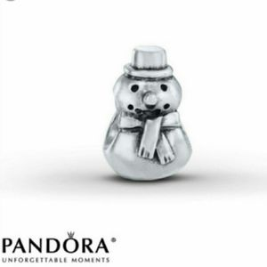 ⛄ Pandora Sterling Silver Snowman Charm